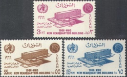 3253 Medicine WHO Omnibus 1966 Sudan 3v Set MNH ** - Medicine