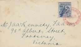 COVER. AUSTRALIA. 1928. RED PHILATELIC MELBOURNE TO VICTORIA - Stamps