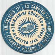 Old Beer Coaster From Zrenjanin Brewery Yugoslavia Serbia (Hungarian And Serbian Text) - Sous-bocks