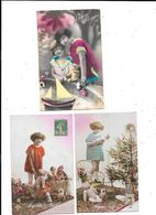 10976 - Lot De 3 CPA Fantaisies, Enfants Avec OURS En Peluche - Enfants