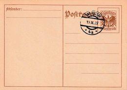 "OOSTENRIJK : Ganzsache - Entier : Michel P 276 A  ""BAD AUSSEE  19 .IX.27 / * 4a *""  (ohne Adresse) - Entiers Postaux"