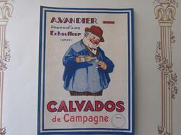 & SUPERBE ET RARE ETIQUETTE DE CALVADOS DE CAMPAGNE - Rhum