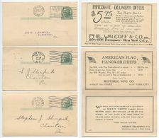 United States 1914-21 3 UX27 Postal Cards New York NY To Clairton, Pennsylvania - Ganzsachen