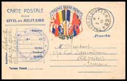 42332 Carte Postale En Franchise France Quand Meme 1916 111ème Artillerie 12èm Secteur 62 Guerre 1914/1918 War Postcard - Marcophilie (Lettres)