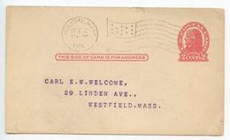 United States 1918 UX29 Postal Card Holyoke MA, Arab Patrol Association Of Melha Temple - Ganzsachen