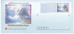 Enveloppes Timbrée Prêt-à-poster,  Tarif  Europe. Félicitations Aux Parents. - Marokko (1956-...)