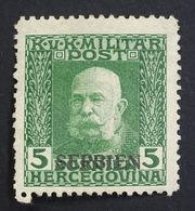 Serbia 1916 Mi.4 Austro-Hungarian Occupation In WWI Overprint Mint Lightly Hinged. - Serbia
