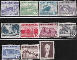 Polen     .  Yvert   379/389  ( 380: * )    .    **    .   Postfrisch    .   /  .   MNH - 1919-1939 Republic