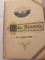 CARNET DE BAL 22 OCTOBRE 1896 BAL ANNUEL UNION COMMERCIALE ET INDUSTRIELLE COURBEVOIE 92 - Programas
