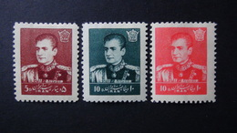 Iran - 1958 - Mi:IR 1030, 1032-3*MH - Look Scan - Iran