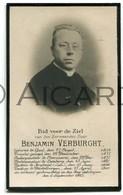 Doodsprentje Priester/prêtre Benjamin Verburght °1854 Gent †1915 Destelbergen / Overmeire/ Ledeberg/ Heykant Zele (B5) - Obituary Notices
