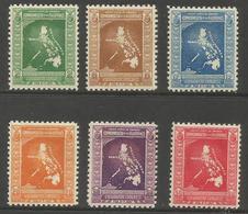 Philippines - 1937 Eucharistic Congress MNH **    Mi 402-7  Sc 425-30 - Philippines