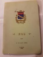 CARNET DE BAL 2 MARS 1895 CERCLE PHILANTHROPIQUE DE L'AUBE GRAND HOTEL HENRI DRAPIER - Vecchi Documenti