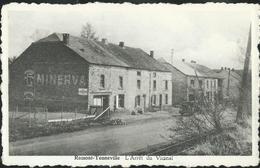 Carte Neuve: Ramont - Tenneville : L'Arrêt Du Vicinal  (publicité Sur Le Pignon  Pour Minerva) - Tenneville