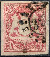 Stamp Bavaria 1867 3kr Fancy Cancel Used Lot#88 - Bavière