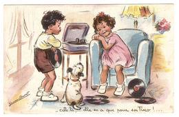 Illustrateur Gernaine BOURET - Celle-là,... Elle En A Que Pour Son Tino!... - ENFANT - TOURNE DISQUE - Ed. AEC, Paris - Bouret, Germaine