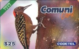Dominicana - DMC002, El Carpintero, Edition 1995, Birds, 25 $, 1995, Mint / Unused - Dominicaanse Republiek