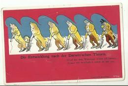 """2068 """" DIE ENTWICKLUNG NACH DER DARWIN'SCHEN THEORIE """" CART. POSTALE ORIGINALE NON SPED. - Généalogie"""