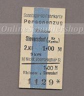 BRD - Pappfahrkarte (DR) --> Rhinow - Sieversdorf (Sonntagsrück) - Bahn
