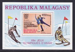 MADAGASCAR BLOC N°   14 ** MNH Neuf Sans Charnière, TB (CLR394) Jeux Olympiques à Innsbruck - 1976 - Madagascar (1960-...)