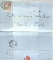 CARTA 1869 DE SANTIAGO A PUEBLA DE CARAMIÑAL  CORUÑA - 1850-68 Kingdom: Isabella II