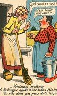 Venimeuse Matrone A La Langue Agitée D'une Ardeur Frénétique Tu N'as Donc Pas Peur De La Trique ? Illustré Humour - 1900-1949