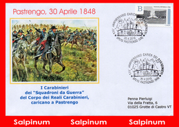 ANNULLO ANNIVERSARIO 170° PASTRENGO CARICA CARABINIERI - 2011-...: Storia Postale