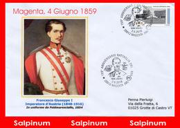 ANNULLO ANNIVERSARIO 159° MAGENTA - 6. 1946-.. Repubblica