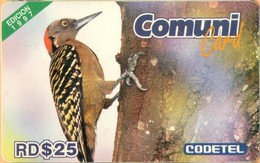 Dominicana - DMC014, El Carpintero, Edition 1997, Birds, 25 $, 1997, Used - Dominicaanse Republiek