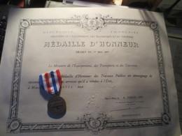 DIPLÔME ET MÉDAILLE D'HONNEUR * 1995* VOIR PHOTOS - France
