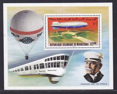 MAURITANIE BLOC N°   15 ** MNH Neuf Sans Charnière, TB (CLR395) Anniversaire Du Premier Zeppelin - 1976 - Mauritanie (1960-...)