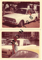 AUTOMOBILE VOITURE FORD CORTINA 1968- 2 PHOTOS DE FAMILLE 13x9 Cms - Automobili