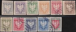 Polen     .  Yvert  .   136/146     .   O / *     .   Gebraucht Und Ungebraucht - 1919-1939 Republic