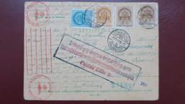 Carte De Kiskunlachaza Hongrie Fevrier 1942 Pour Poitiers Censure Allemande Et Griffe Refoulé Bureau Postal De Lyon .... - Marcophilie (Lettres)