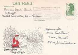 ENTIER LIBERTE 1F70 -2318 CP1 PERE NOEL JE VAIS ENFIN CASER MES ALBUMS DE TIMBRES - Christmas