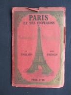 VP PLAN (V1823) PARIS ET SES ENVIRONS (2 Scans) Monumental Métropolitain - Cartes Géographiques
