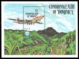 Dominica 1984 Civil Aviation Souvenir Sheet Unmounted Mint. - Dominica (1978-...)