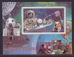 COMORES BLOC N°   5C ** MNH Neufs Sans Charnière (CLR397) Cosmos, Liaison Téléphonique Satellite -1976 - Comoros