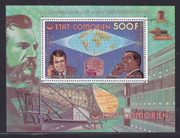 COMORES BLOC N°   5D ** MNH Neufs Sans Charnière (CLR398) Cosmos, Liaison Téléphonique Satellite -1976 - Comoros