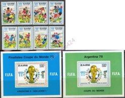 0585 Sport Football Soccer World Cup FIFA 1978 Zaire 8v+2S/s Set MNH ** 55ME - Coupe Du Monde