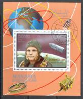 0519 ✅ Space Raumfahrt Gagarin Optd 1969 Manama S/s CTO RARE - Espacio