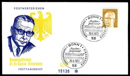07240) BRD - Mi 728 - FDC - 130Pf Heinemann - [7] República Federal