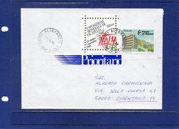 ##(DAN1810/B)-1997-  L.800  Fiera Di Roma Isolato  Su Busta  Per Orentano-Pisa Con Etichetta Prioritario Sperimentale - 6. 1946-.. Repubblica