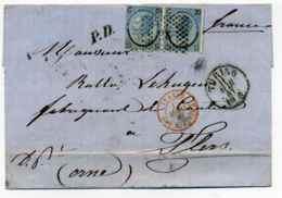 Lettre De TORINO + Marque D'entrée ITALIE AMBULANT MONTCENIS / 1867 / Aff TP Italie - Marcophilie (Lettres)