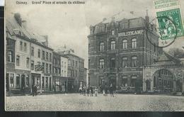 Carte écrite Le 18/08/1914 : Grand ' Place Et Arcade Du Château - Chimay