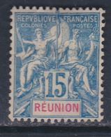 Réunion N° 37 (.) Type Groupe : 15 C. Bleu, Neuf Sans Gomme Sinon TB - Unused Stamps