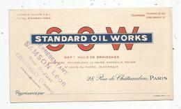 Carte De Visite , Huile De Graissage , STANDARD OIL WORKS ,Paris , Représentant : Samson Léon , Chauvigny - Visiting Cards