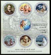 India 2018 Mahatma Gandhi 150th Birth Anniversary Round Odd Shaped Stamp M/s MNH - Mahatma Gandhi
