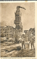 Cpa 80 ALBERT * LA BASILIQUE - BATAILLE DE LA SOMME , Ww1 , DESSIN DE F.FLAMENG AOUT 1916 - Albert