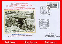 ANNULLO ANNIVERSARIO 100° PRIMA GUERRA MONDIALE – CAVERNAGO - 2011-...: Storia Postale
